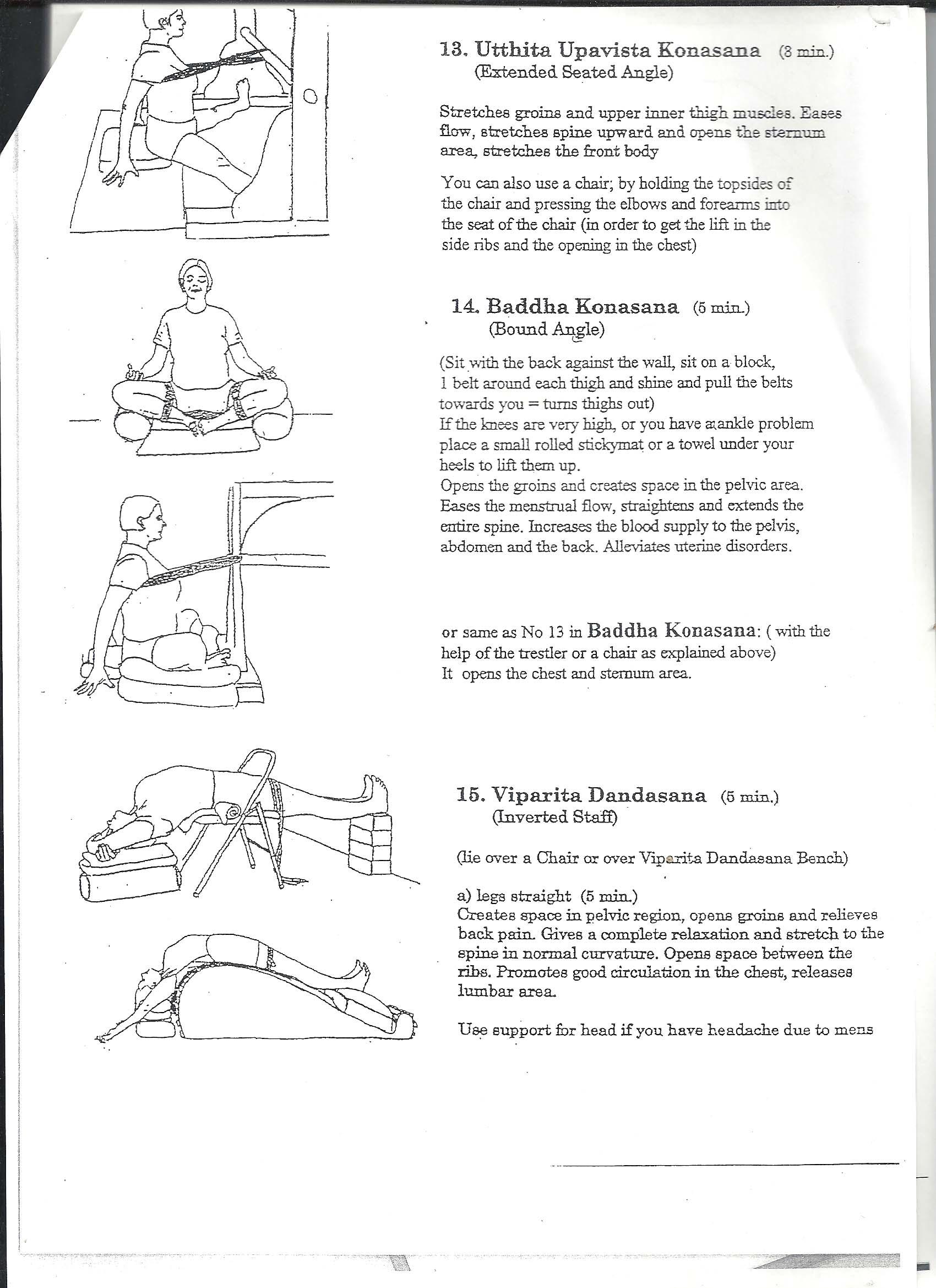 Iyengar Yoga Menstruation Sequence Yogaha
